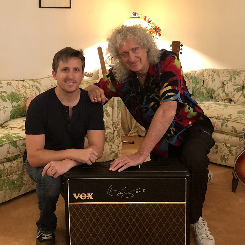 Tom Cusimano and Brian May (Queen), VOX artist