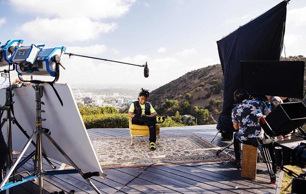 Trippie Redd behind the scenes of the Best Advice shoot