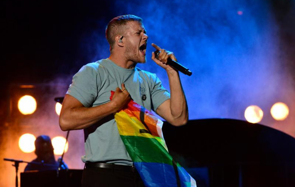 Imagine Dragons' Dan Reynolds performing at LOVELOUD Festival Powered By AT&T on June 29th, 2019, Courtesy of BB Gun Press