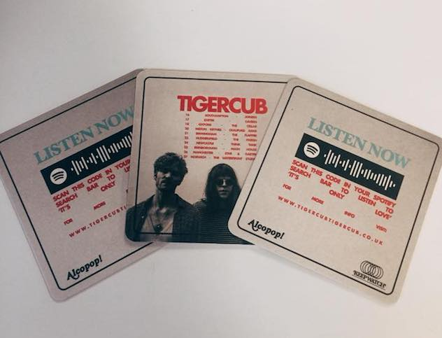 """We wanted to find a more guerilla approach to advertising our EP."" Jamie Hall, lead singer of Tiger Cub."