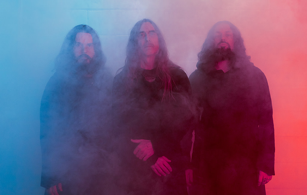 Sunn O))): Stephen O'Malley, Tos Nieuwenhuizen, Greg Anderson, Photo by Ronald Dick
