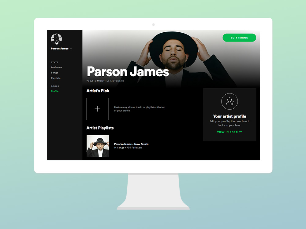 Artist profile tools in Spotify for Artists