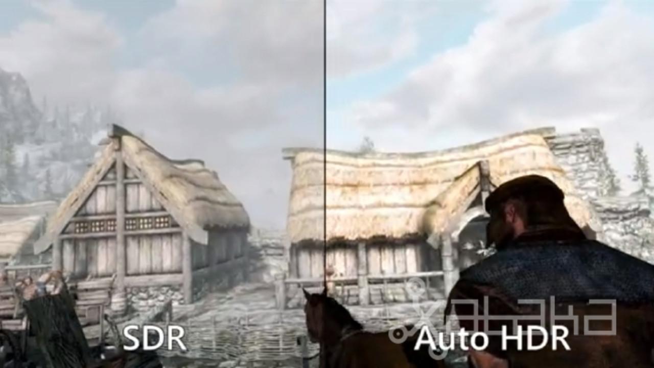 Skyrim na WIndows 11 prezentacja Auto HDR