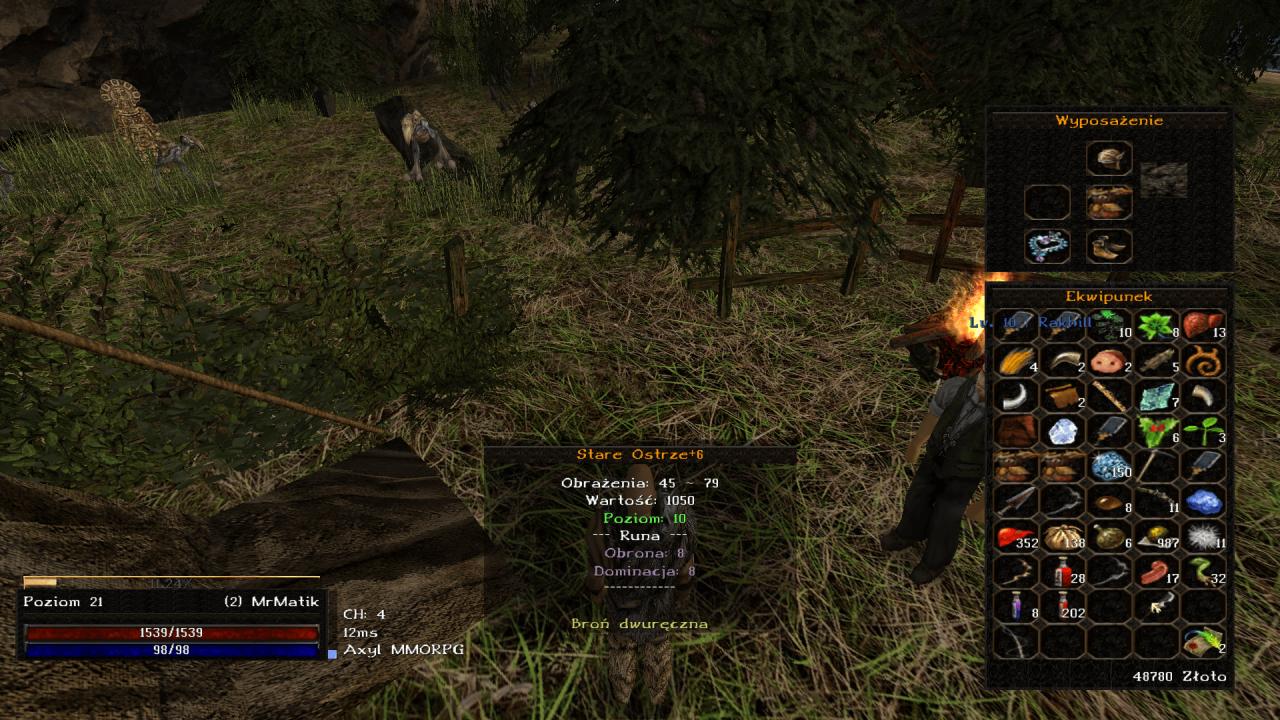 Gothic Online serwer MMORPG Axyl ulepszanie eq jak w metin 2