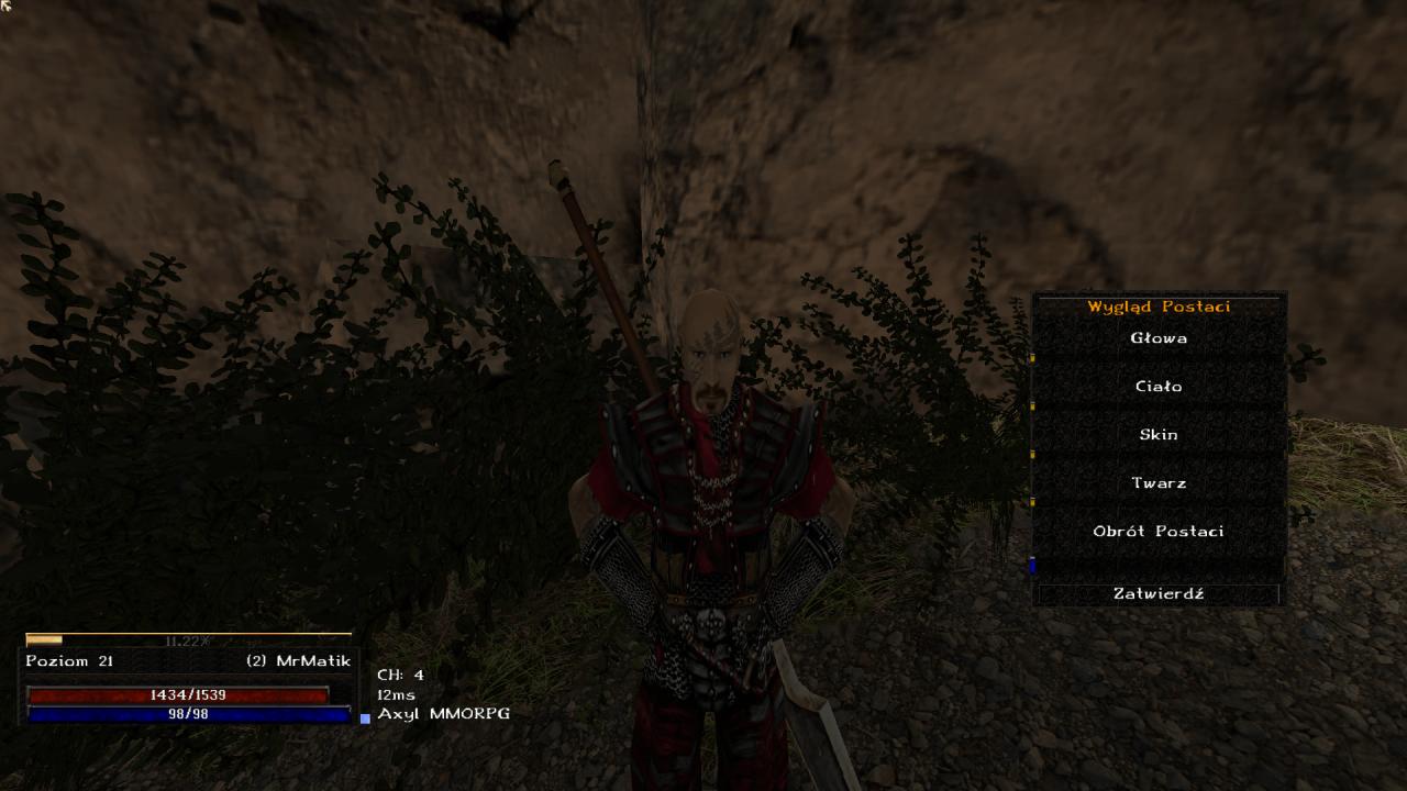 Gothic Online serwer MMORPG Axyl zmiana wyglądu postaci dla kont premium