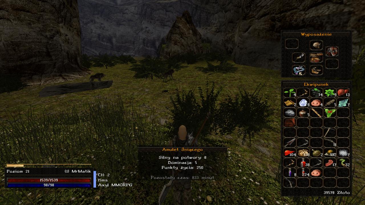 Ekwipunek na dobrym serwerze Gothic Multiplayer Axyl MMORPG