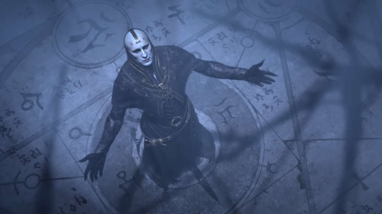 Męska postać z Diablo