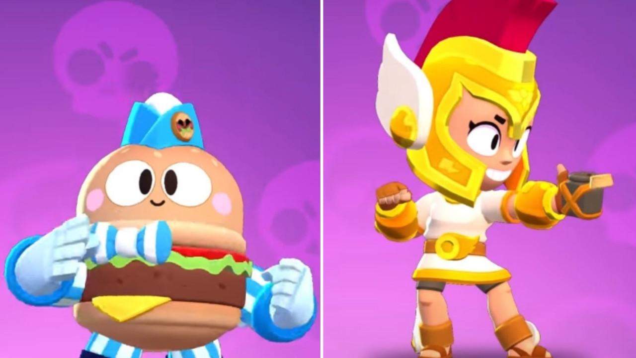 nowe skiny do brawl stars burger lou i hermes max