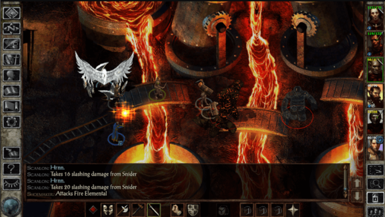 Screen z gry icewind dale gry rpg na android