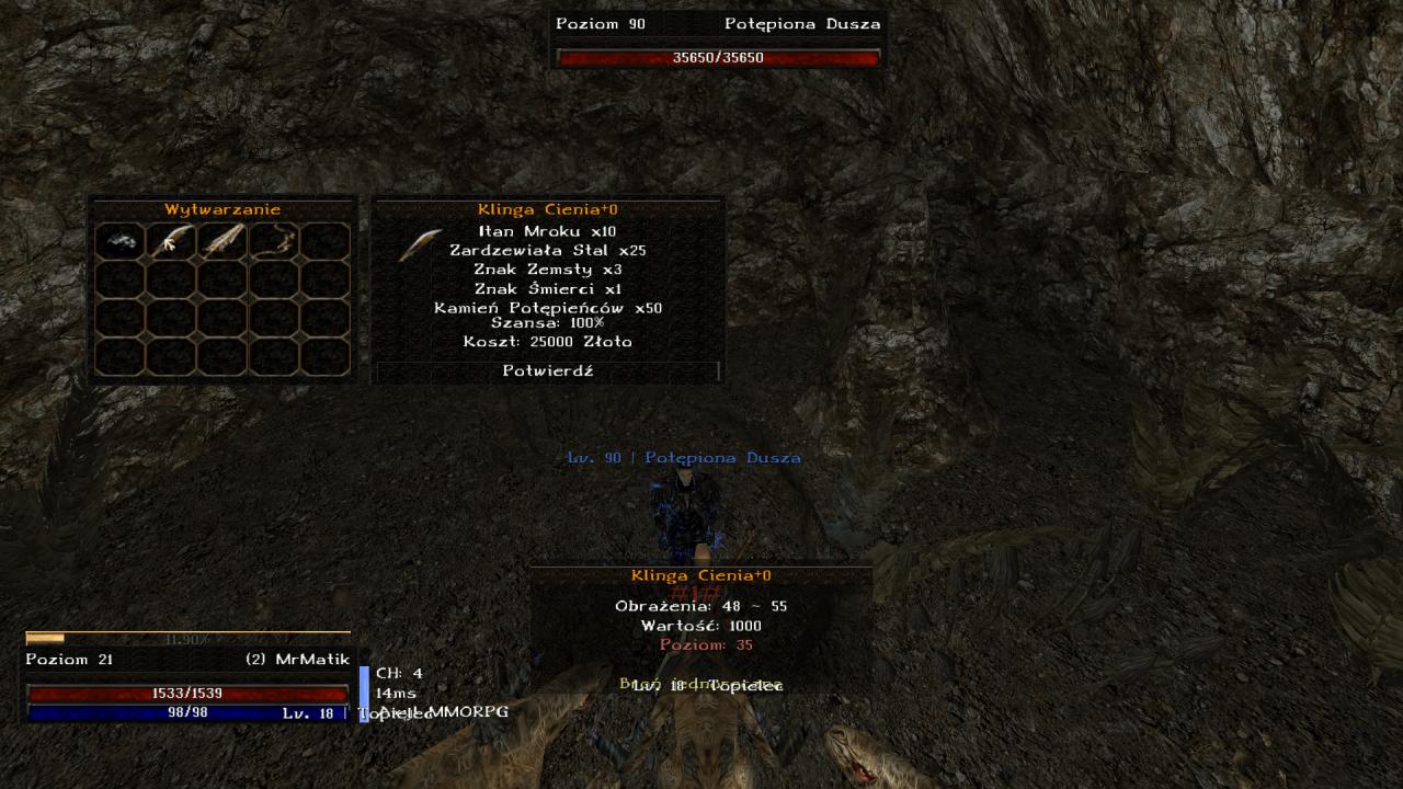 Gothic Online serwer MMORPG Axyl rozbudowany crafting