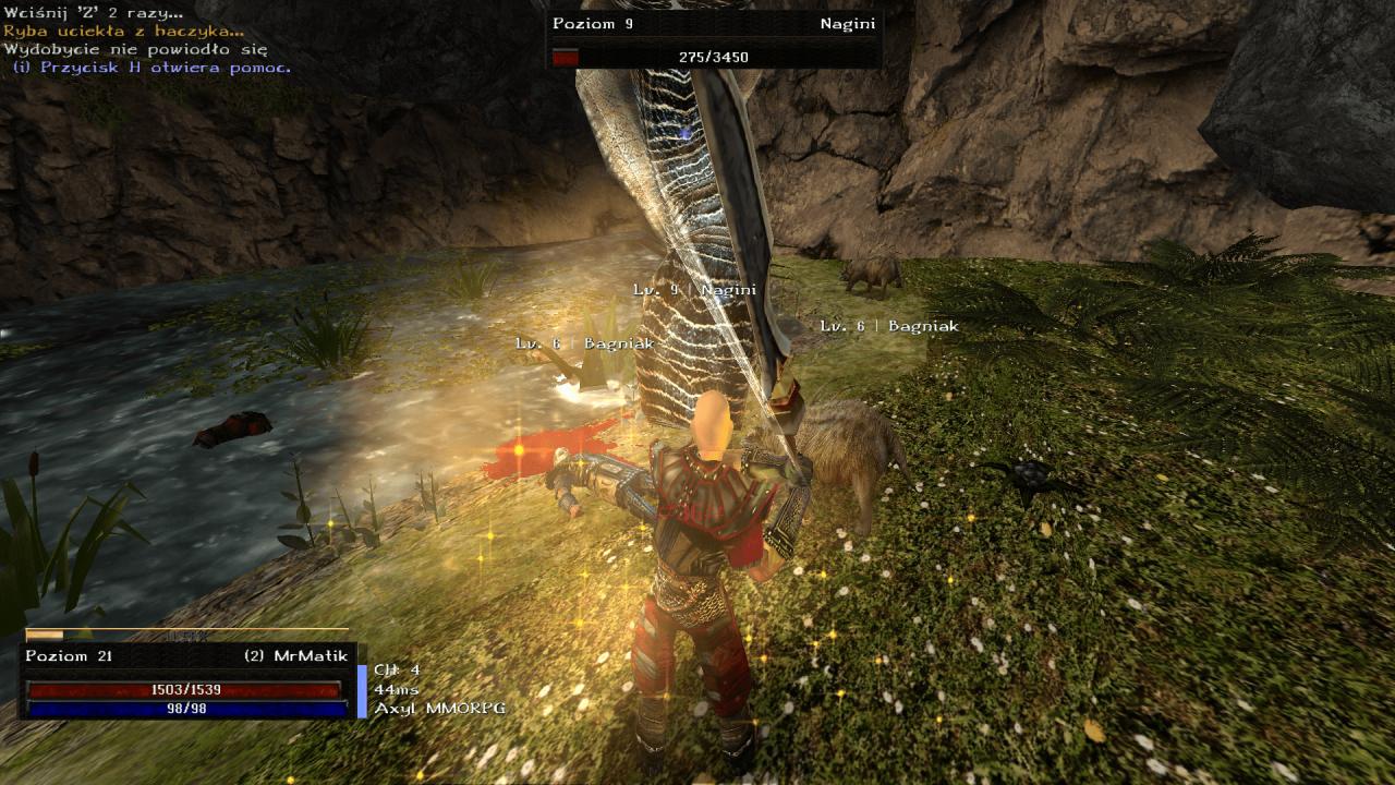 Gothic Online serwer MMORPG Axyl walka z bossem