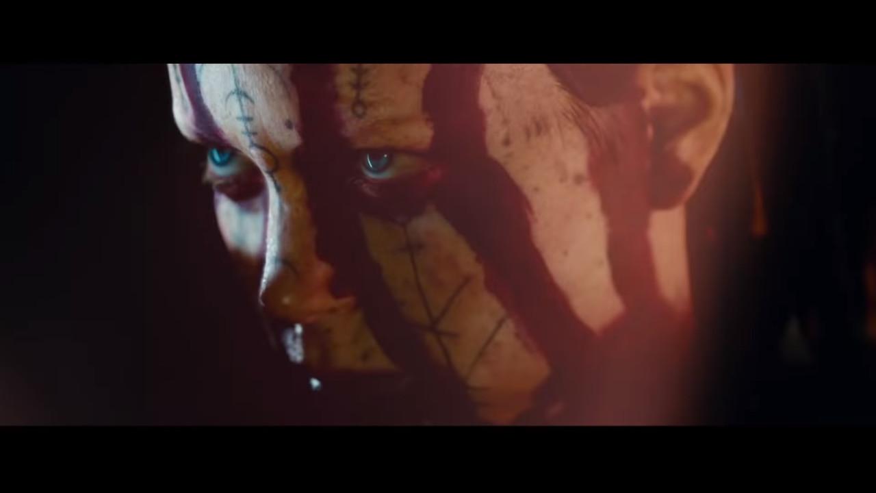 Twarz Senuy w grze Hellblade Senua's Sacrifice 2