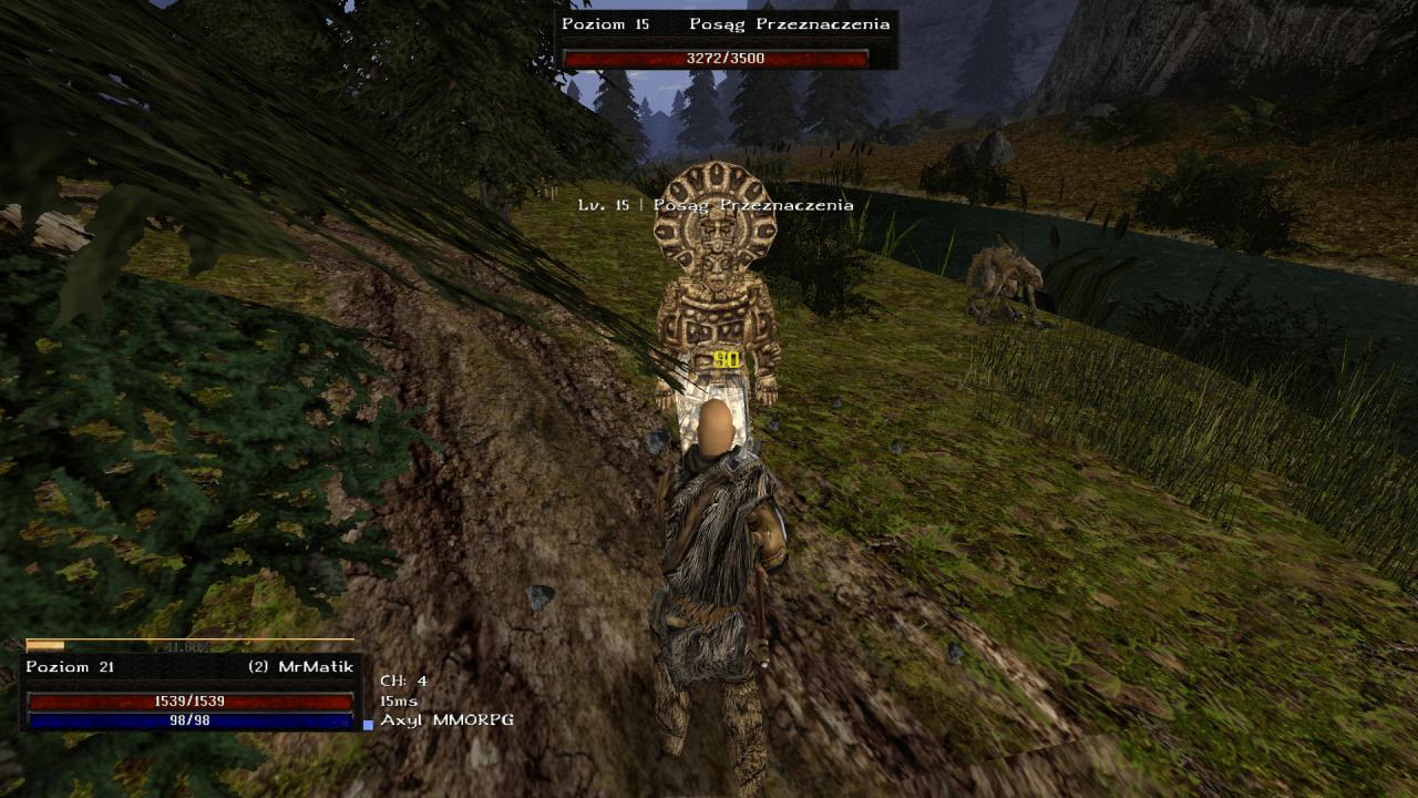 Gothic Online serwer MMORPG Axyl walka z posągiem jak z Metina