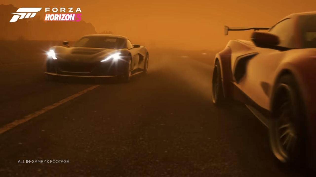 Forza Horizon 5 burza piaskowa od środka nowe warunki pogodowe