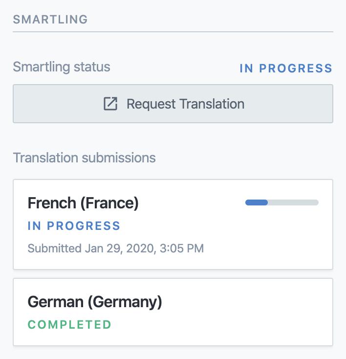 Smartling UI