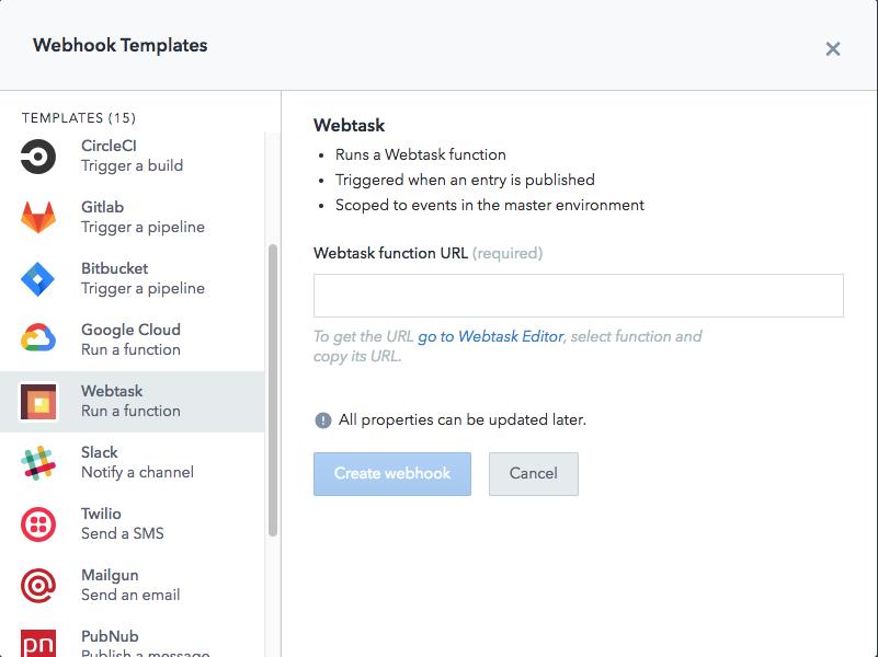 webtask webhook template