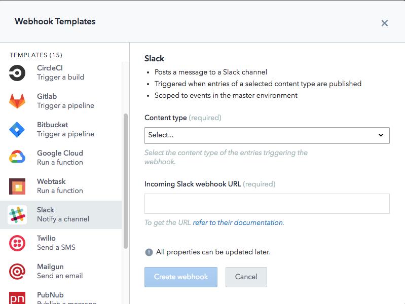 slack webhook template