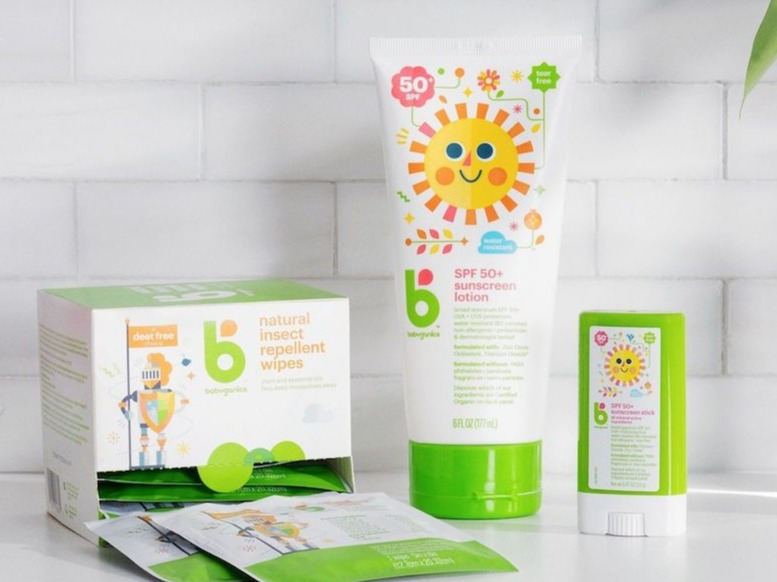 Babyganics sunscreen products