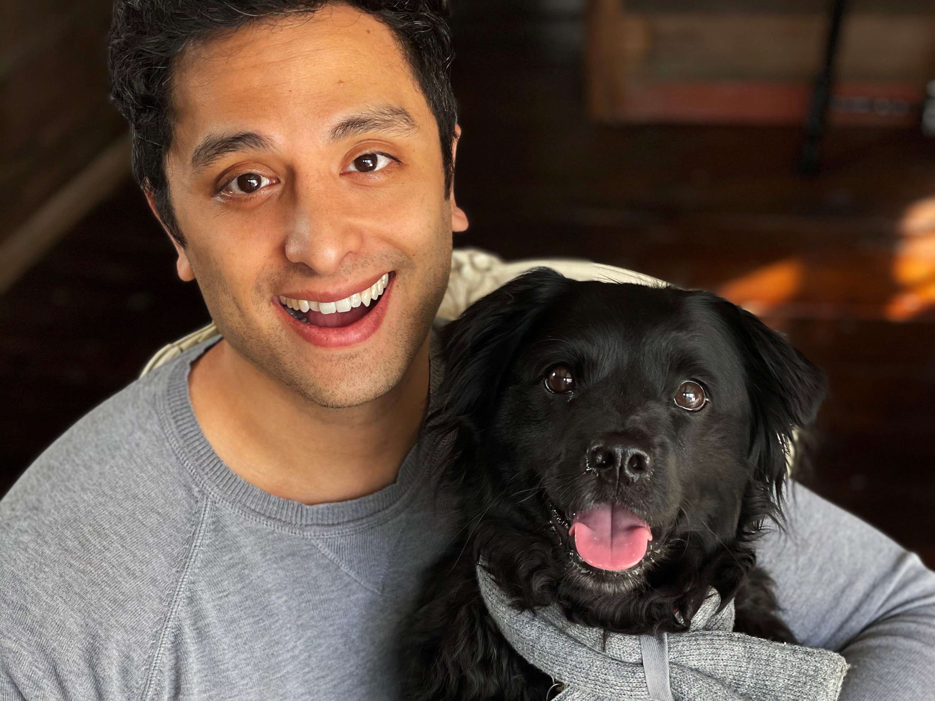kin+kind's founder Thomas Ling and his dog Burke