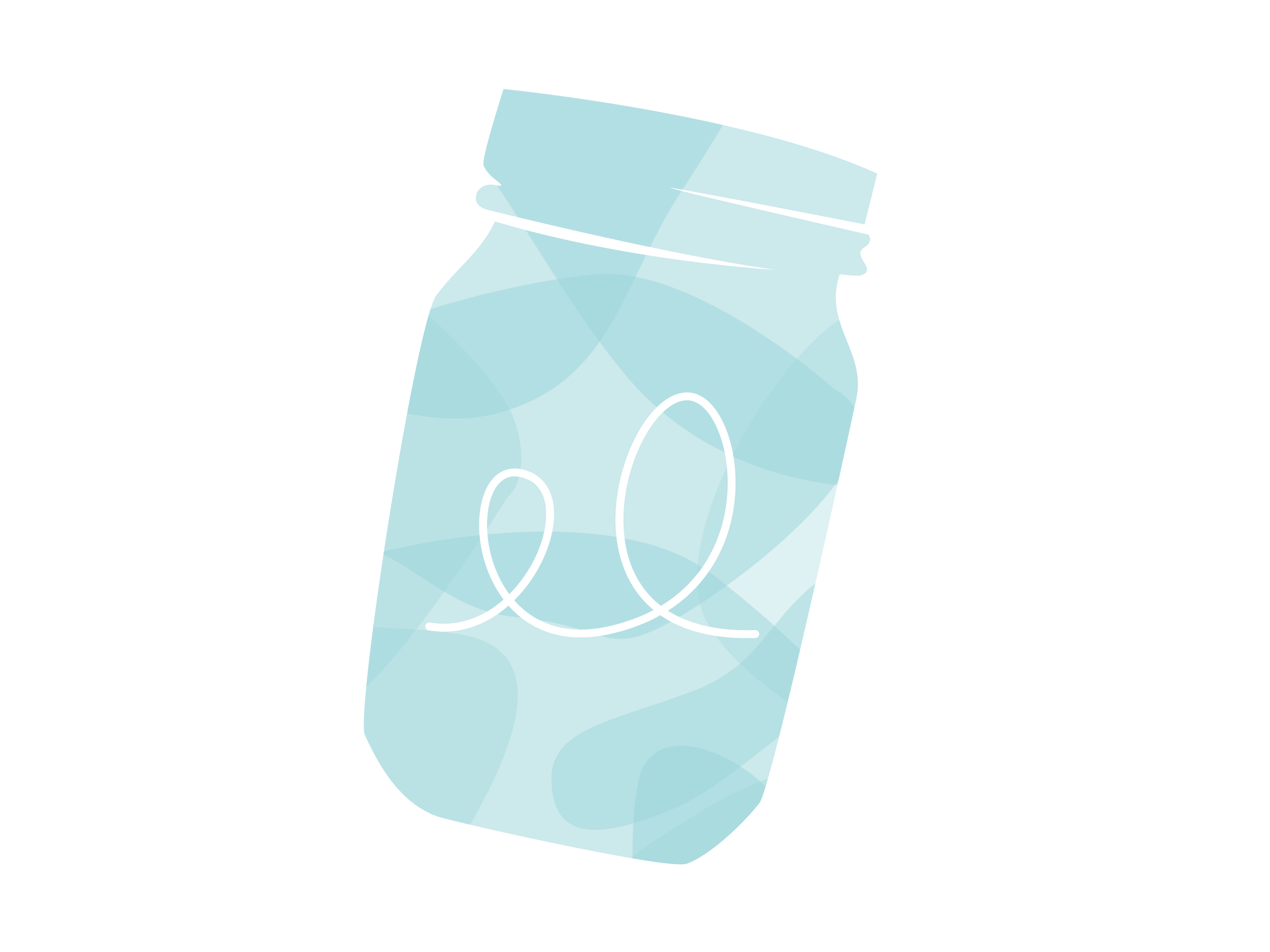 blue jar illustration