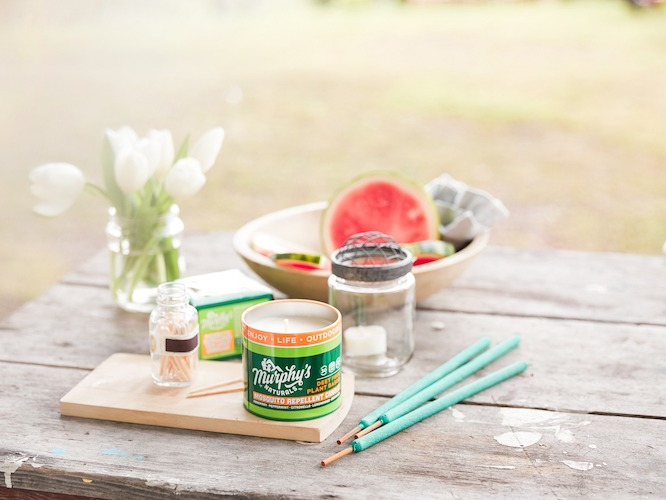 Murphy's Naturals mosquito candle and repellent incense sticks