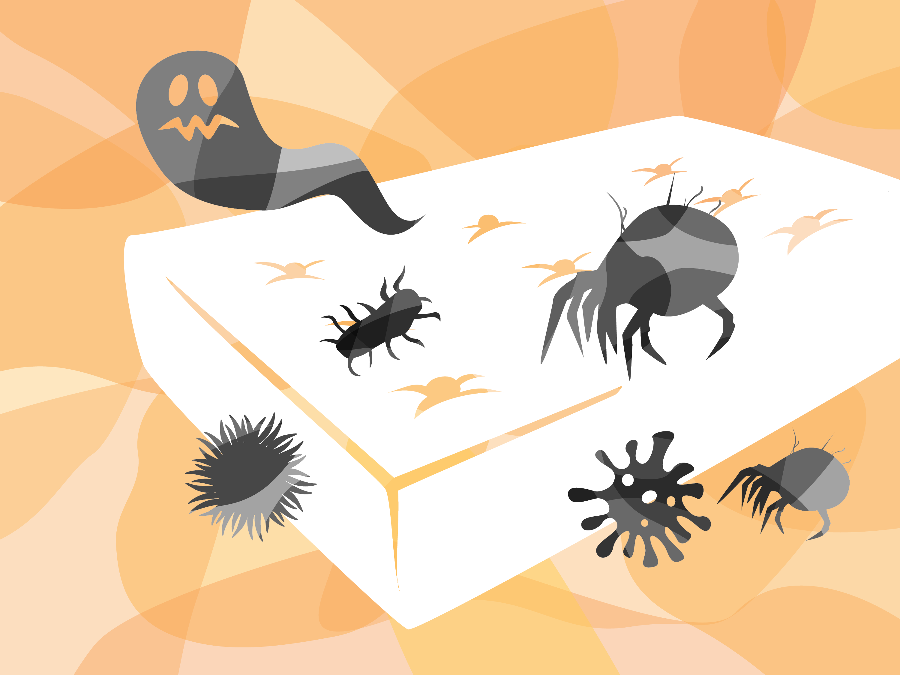 Scary mattress illustration
