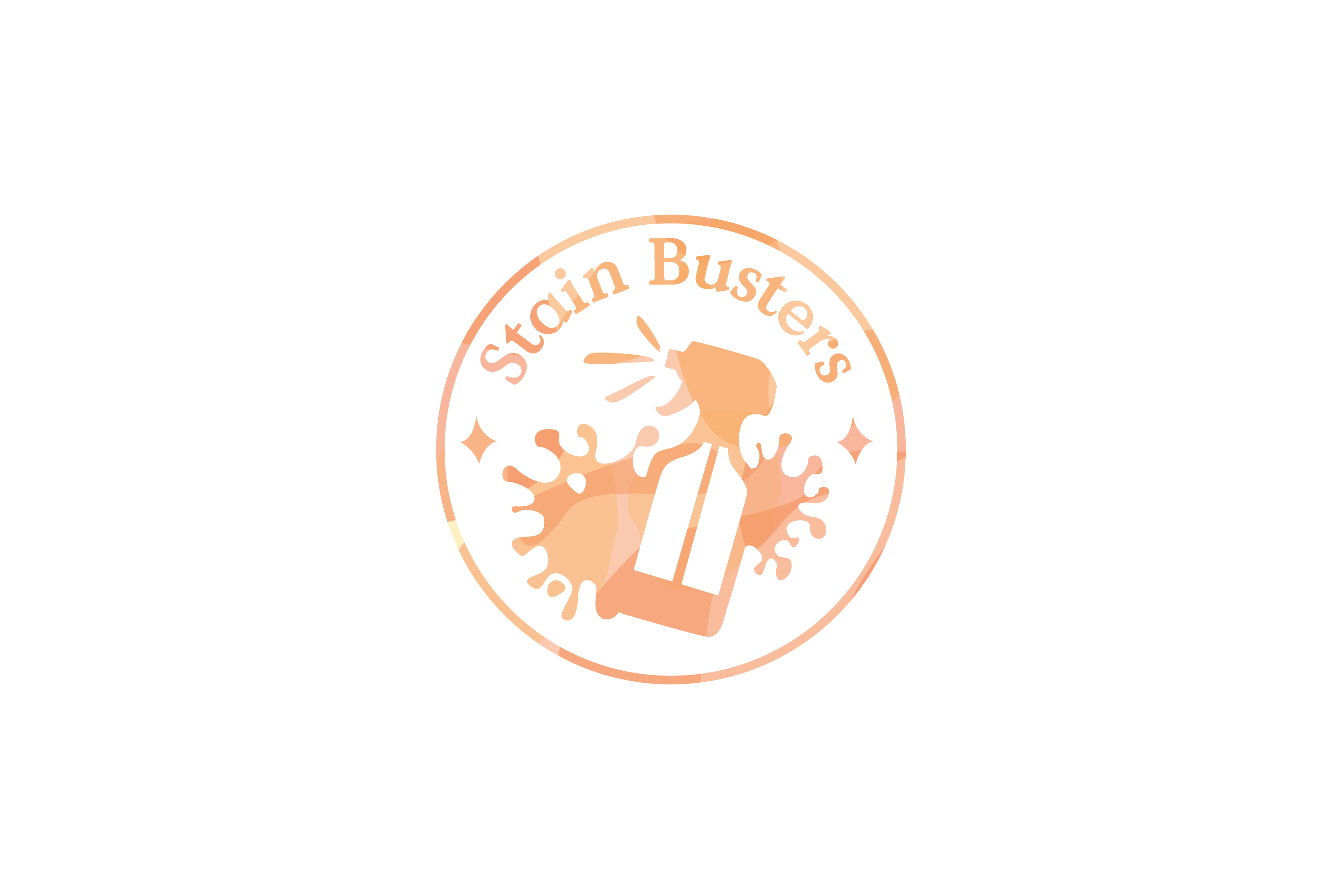orange stainbusters illustrated logo