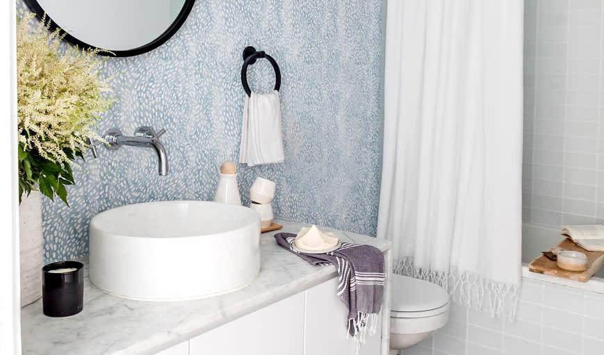 Modern bathroom makeover.