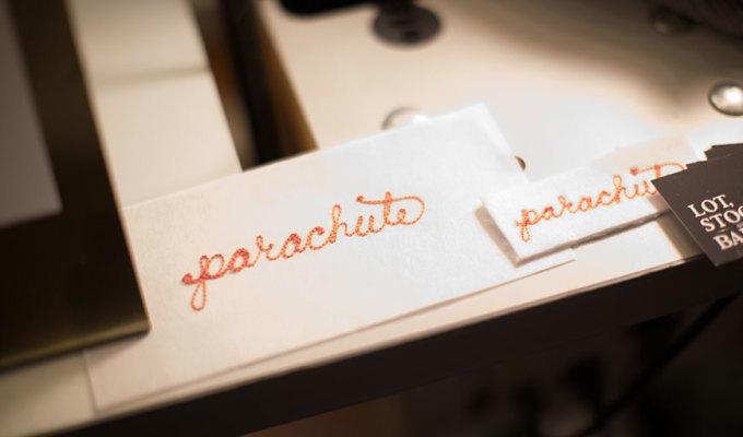 Parachute logo stitched