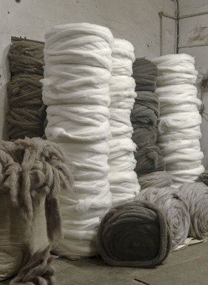 Yarn ready to be woven