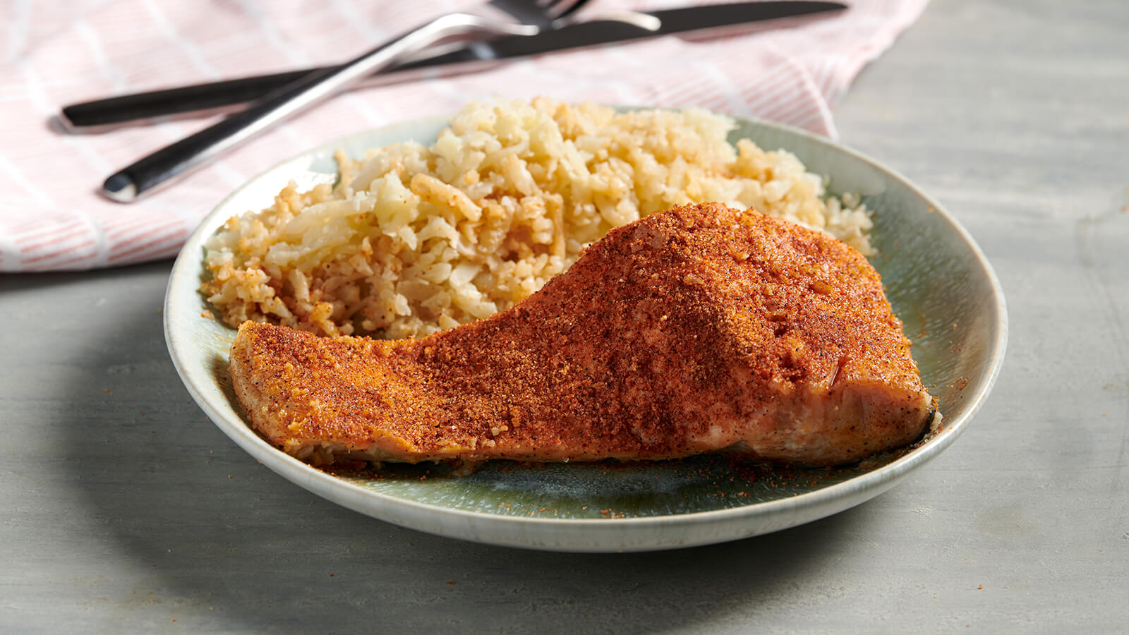 Creole Salmon with Cauliflower Rice