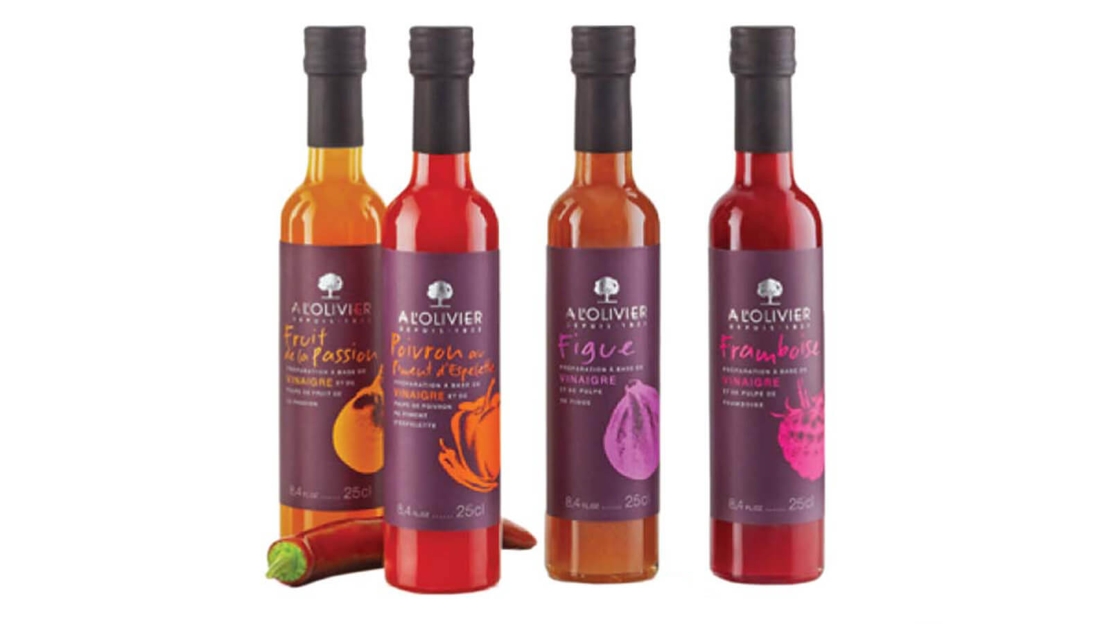 A L'Olivier Fruit Pulp Vinegars