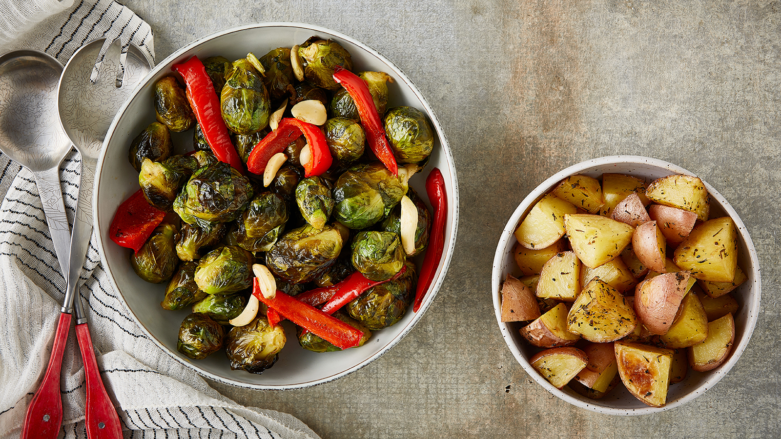 Potatoes and Brussel Sprouts