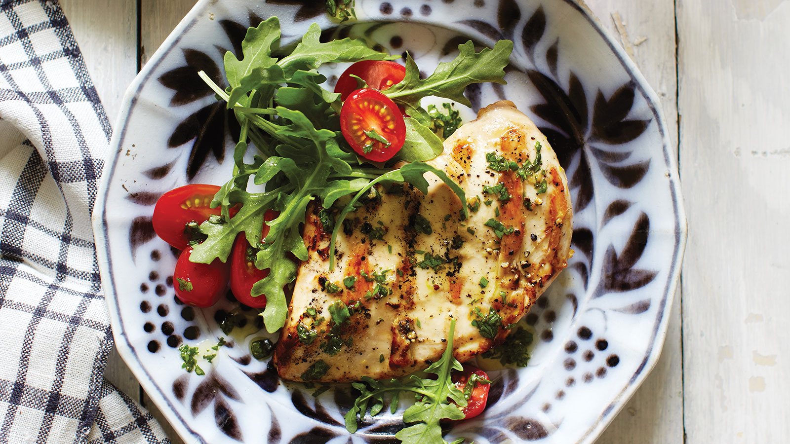 Marinated Chicken with Basil Drizzle
