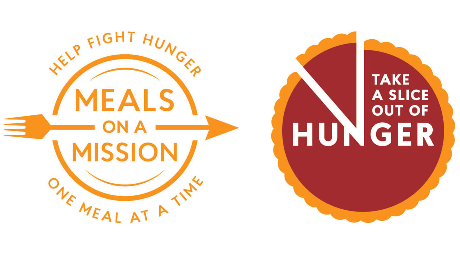 Meals On A Mission & Take A Slice Out Of Hunger logos