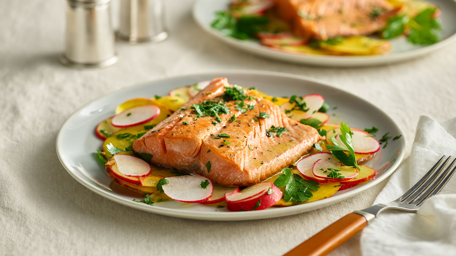 seared-salmon-with-beet-and-radish-salad