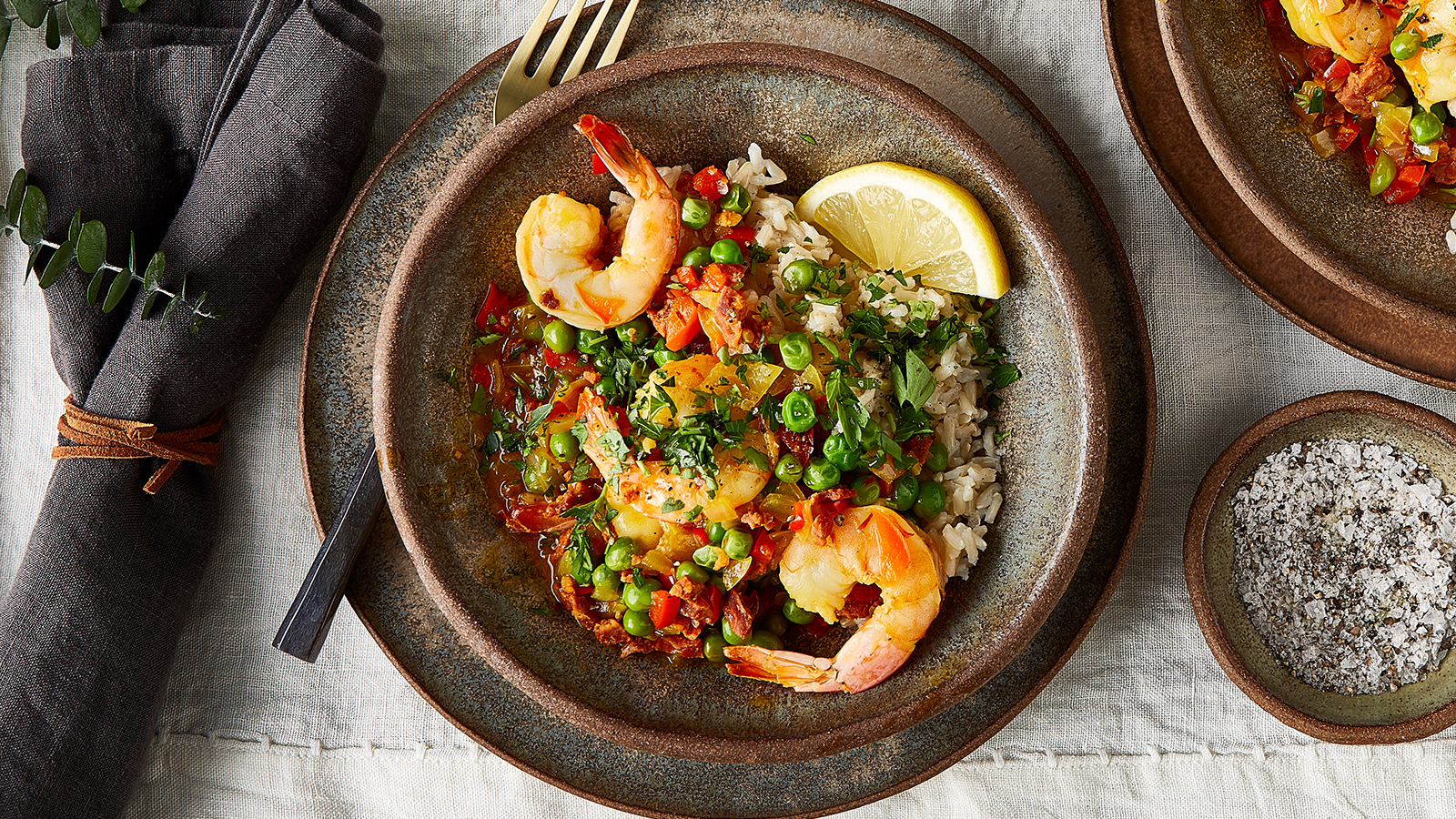 Shrimp Paella Rice Bowl