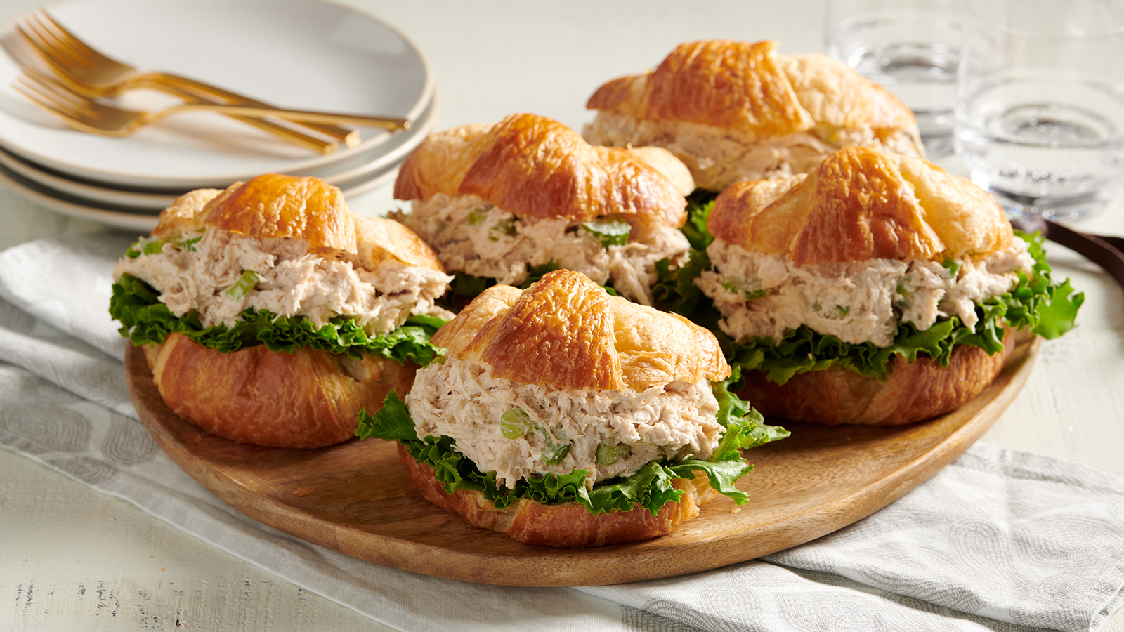 Chicken Salad and Croissants
