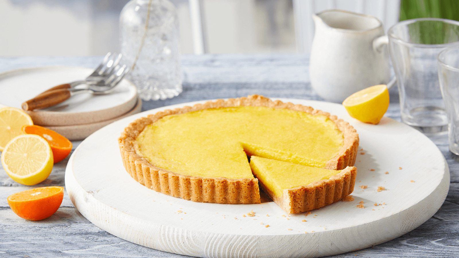 Winter Citrus Tart with Coriander Crust
