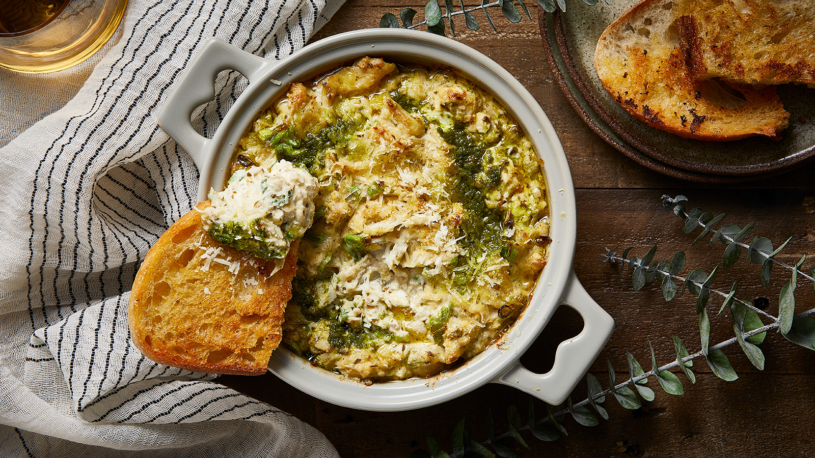 Crab and Artichoke Pesto Dip