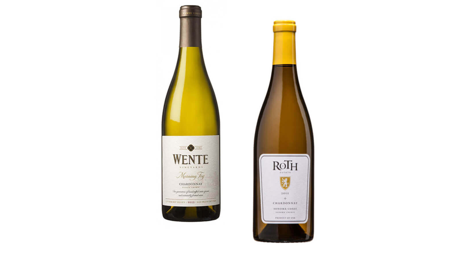 Wente Morning Fog Chardonnay and Roth Chardonnay