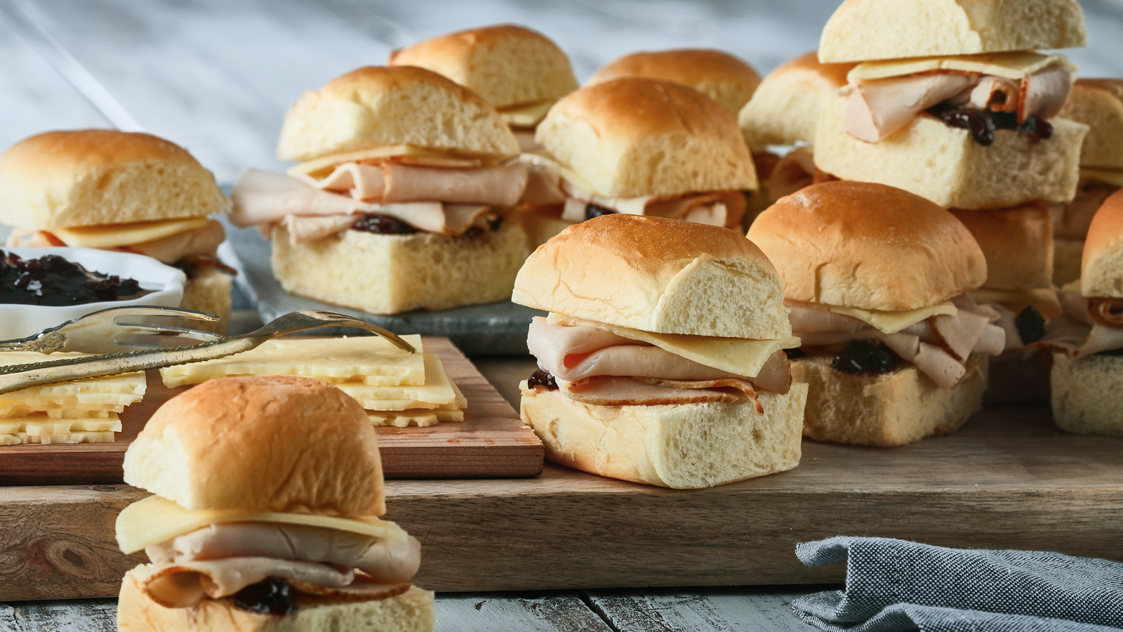 Turkey, Havarti & Sour Cherry Slider Tray