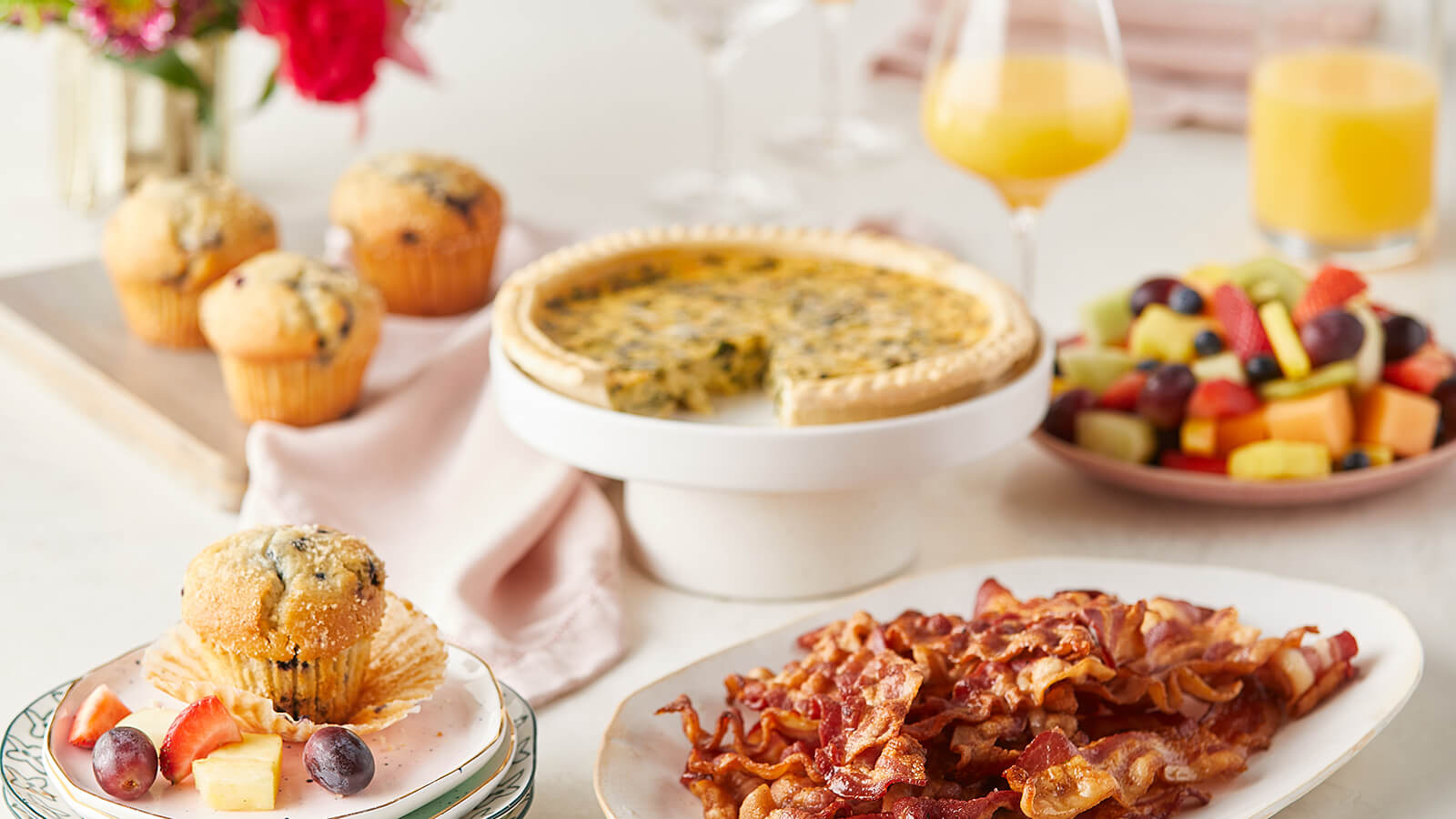 Mother's Day Brunch - Spinach Tomato Quiche