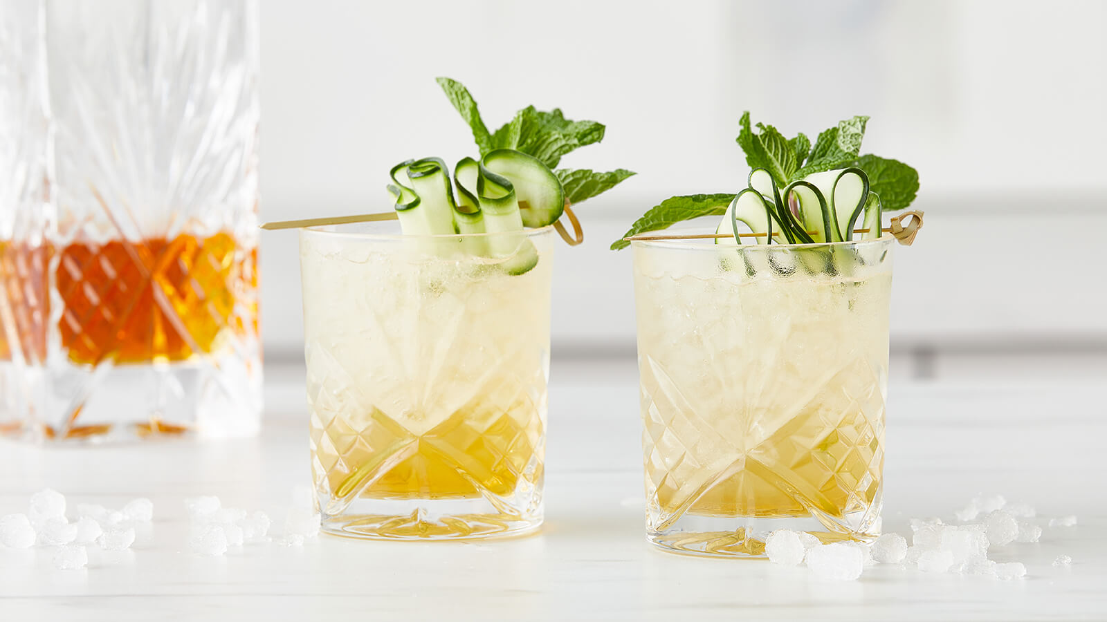 Cucumber Bourbon Mint Cooler