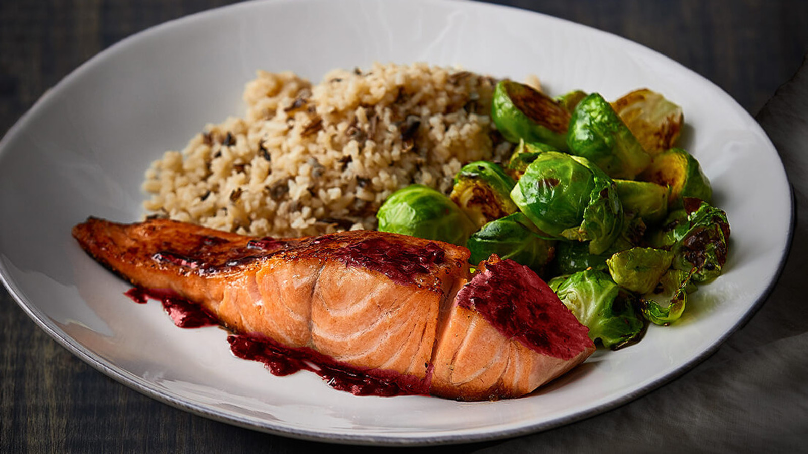 Cherry Port Glazed Salmon