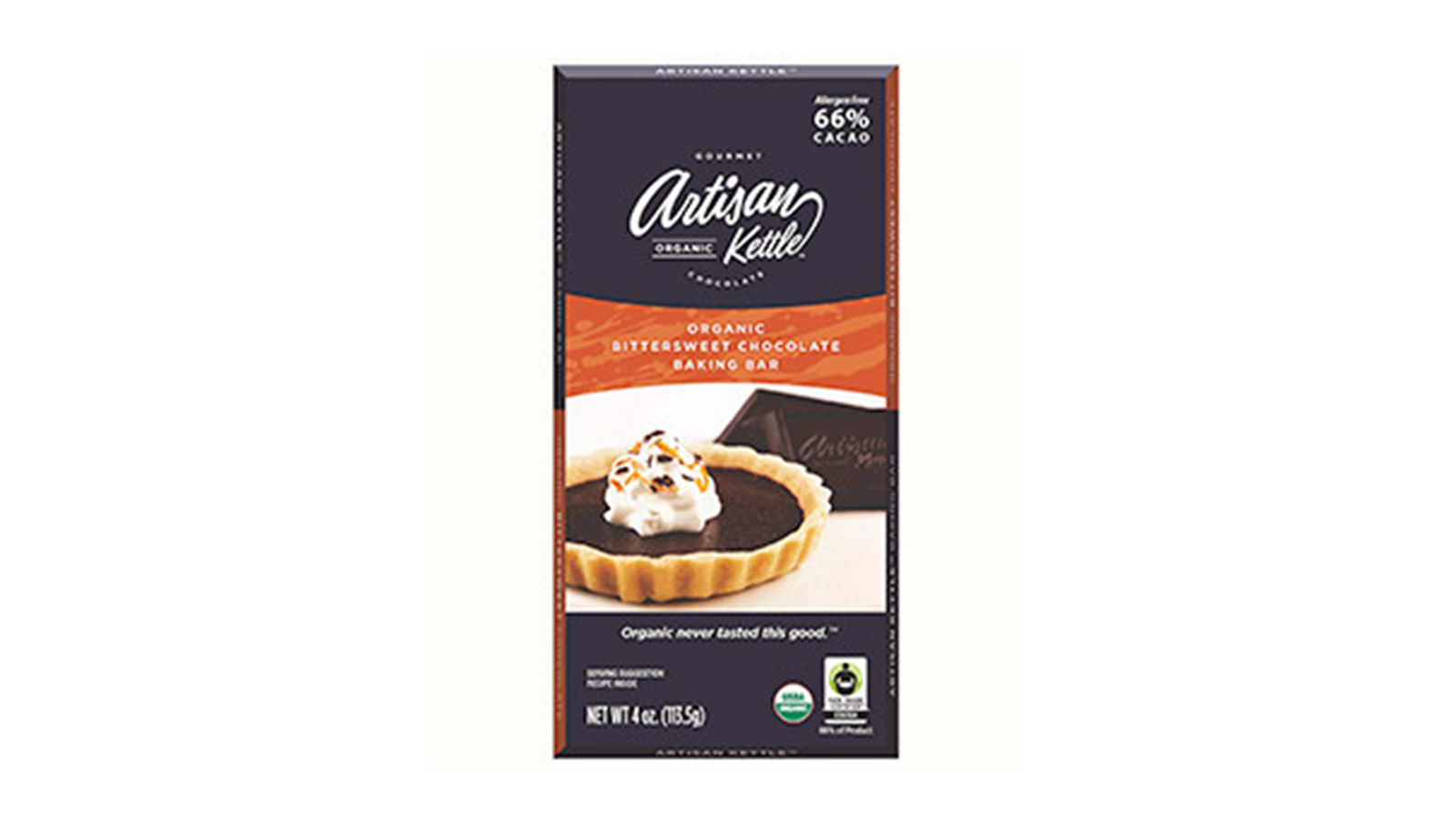 Artisan Kettle Organic Bittersweet Chocolate Baking Bar