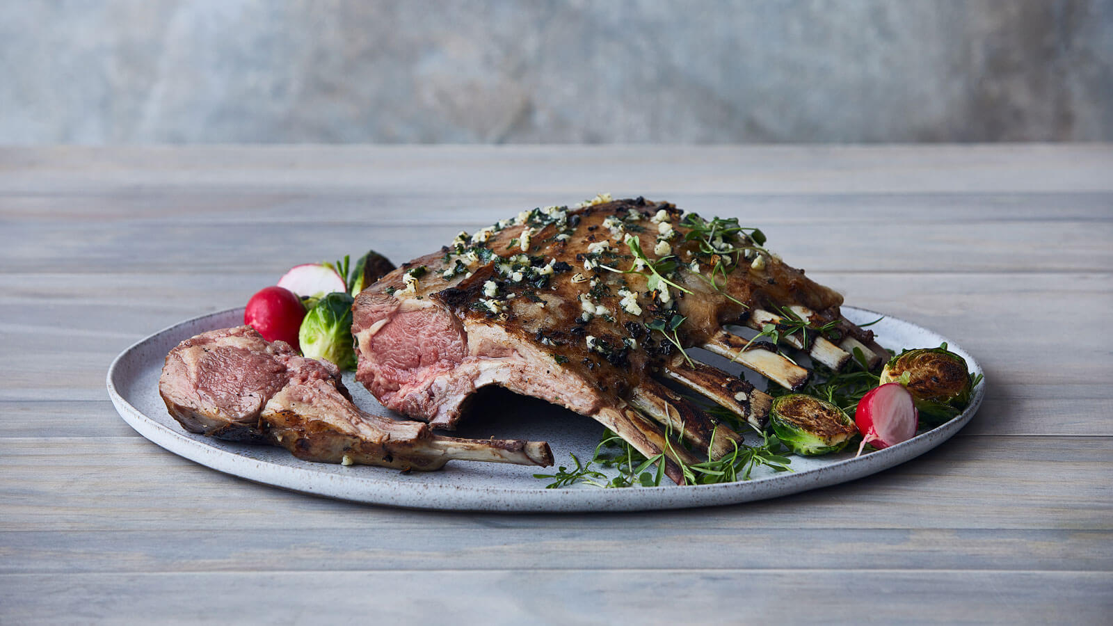 French Cut Rack of Lamb, Seasoned