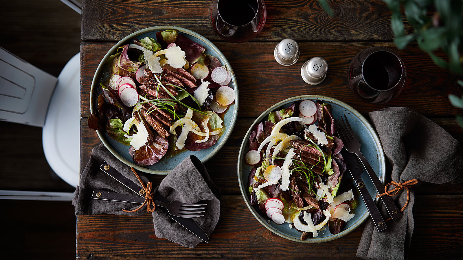 Steak Salad with Smoked Shoyu-Citrus Vinaigrette