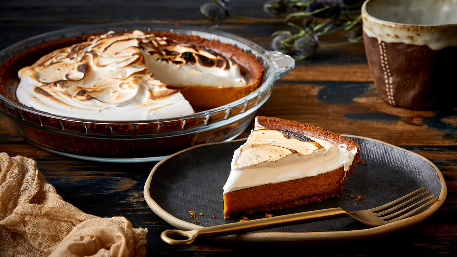 Toasted Marshmallow Pumpkin Pie