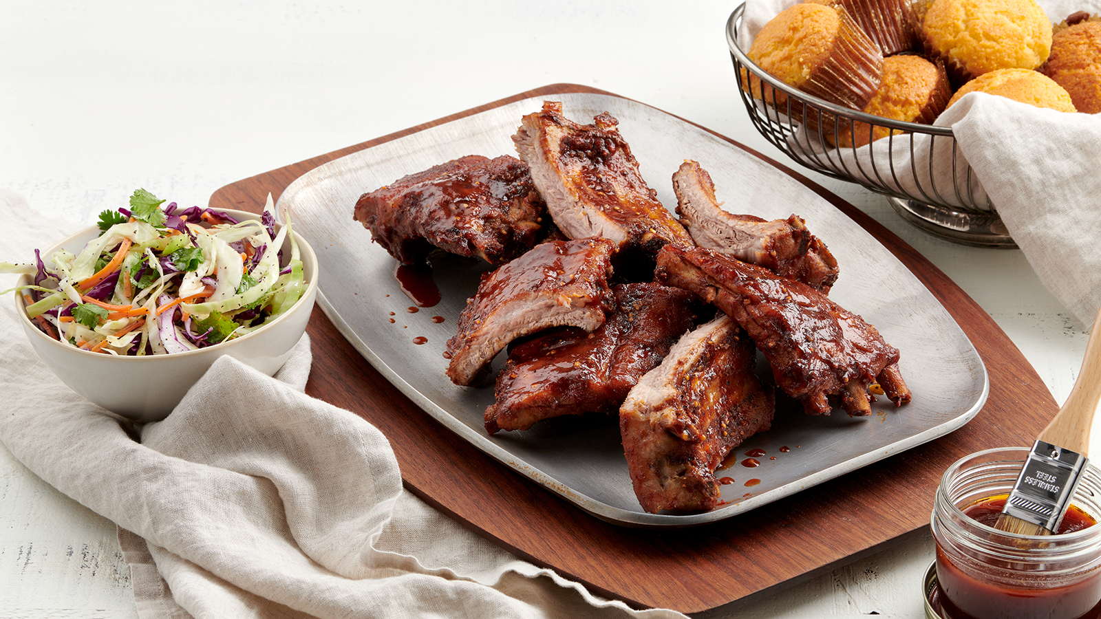 Oven Barbecued Baby Back Ribs
